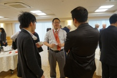 Reception 3 (from left to right; Dr. A. Yamamoto, Prof. M. Tanaka, Dr. W. Abuillan)