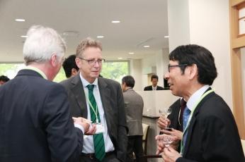 Prof. M. Bastmeyer, Prof. T. W. Holstein, Prof. K. Yoshikawa (from left to right)