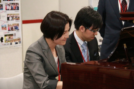 Piano during reception - Ms. M. Yoshida and Dr. A. Yamamoto