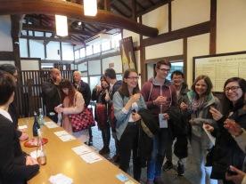 Visiting sake brewery
